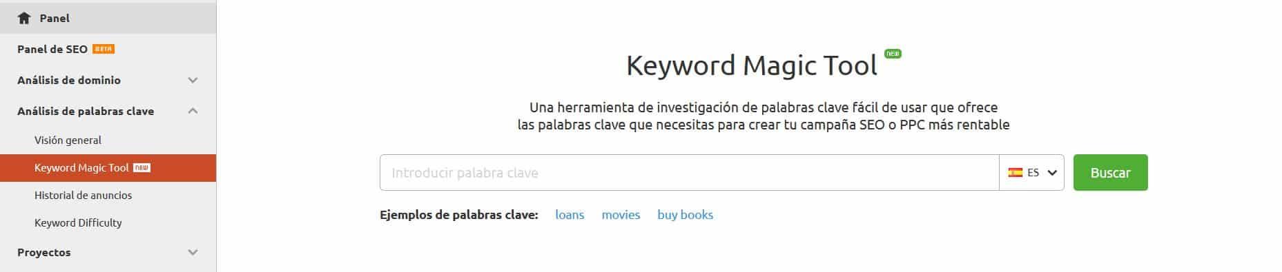 semrush1 - ¿Qué es una keyword? Las mejores herramientas SEO para buscar palabras clave en 2019