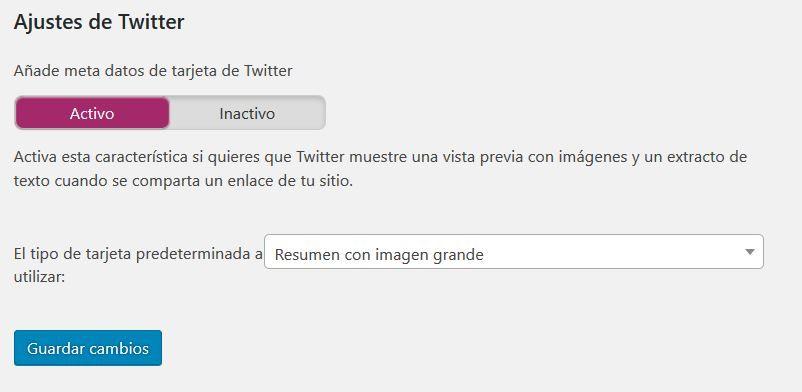 añadir Twitter cards