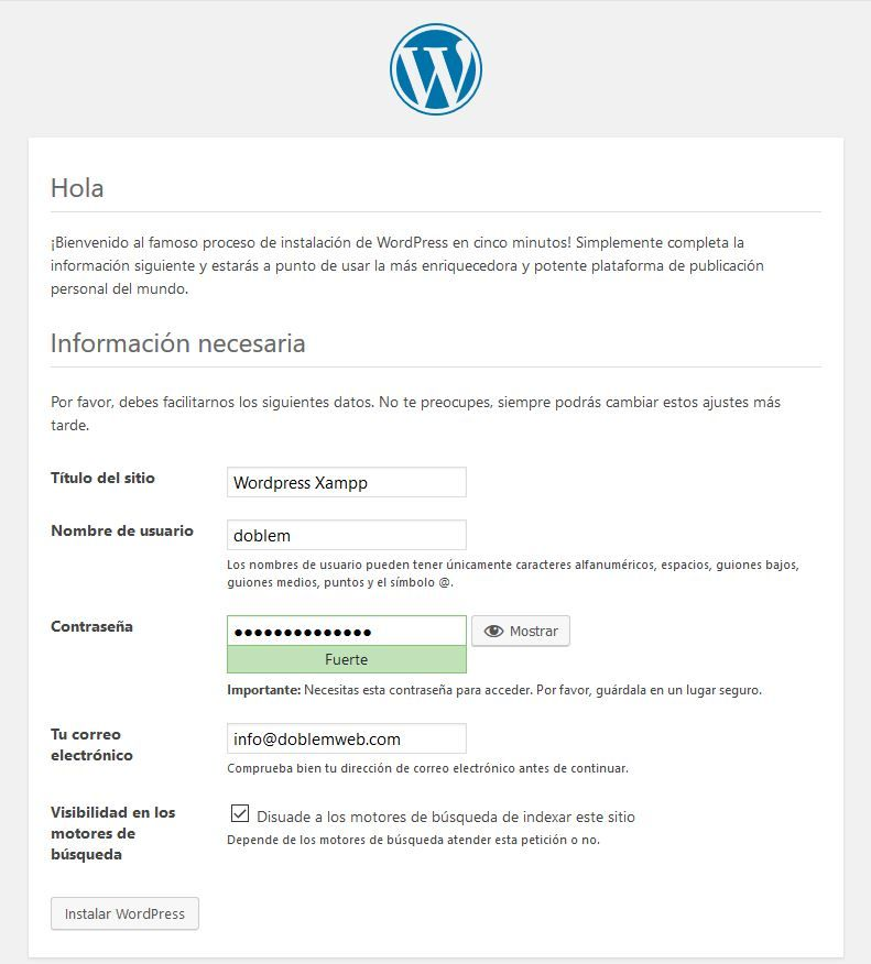 instalar wordpress en tu pc