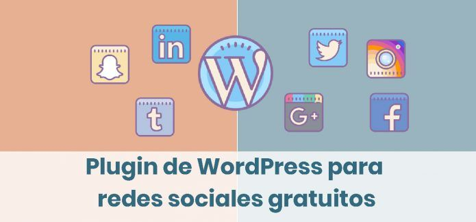 Plugin de WordPress para redes sociales gratuitos. Tres alternativas